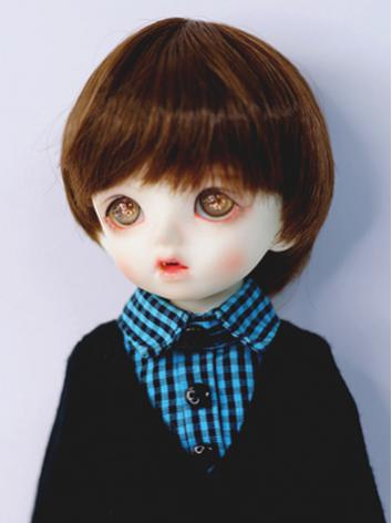 BJD Wig Girl/Boy Dark Brown...