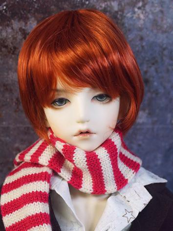 BJD Wig Boy Orange Hair for...