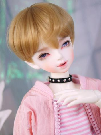 BJD Wig Boy Golden Brown Short Hair for MSD/YOSD Size Ball-jointed Doll
