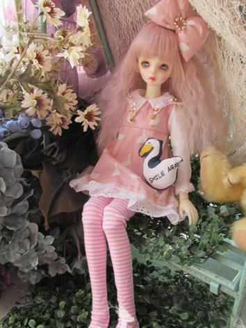 BJD Clothes Girl Pink/Green...