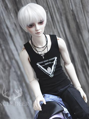 BJD Boy Clothes Black Vest ...