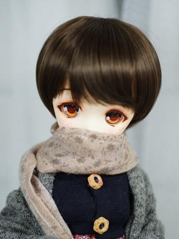 BJD Wig Boy/Girl Dark Chocolate Short Hair for SD/MSD/YOSD Size Ball-jointed Doll