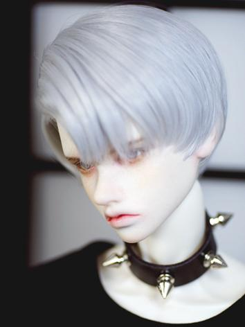 BJD Wig Boy Silver White Short Hair for SD Size Ball-jointed Doll