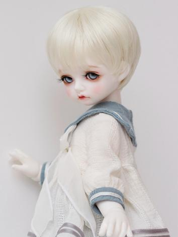 BJD Wig Boy/Girl Beige Short Hair for SD/MSD/YOSD Size Ball-jointed Doll
