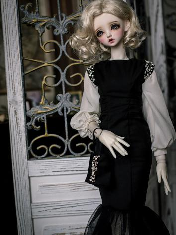 1/3 1/4 Clothes BJD Girl Mermaid Dress for SD/MSD Ball-jointed Doll