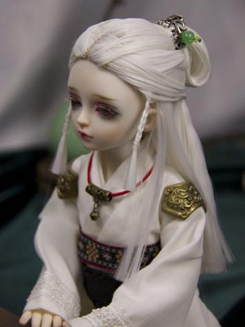 BJD Wig Boy Ancient Updo Wh...