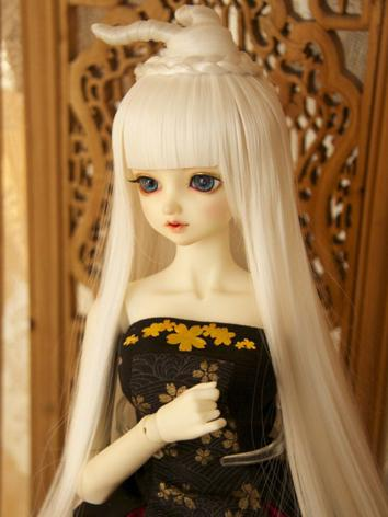 BJD Wig Girl White Ancient ...