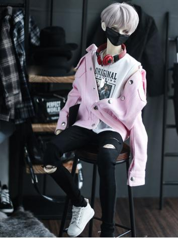 BJD SD17 Boy Clothes Pink C...