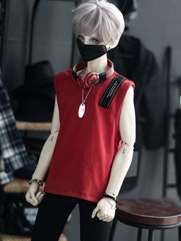 BJD SD17 Boy Clothes Red Ve...