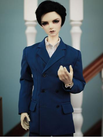 BJD Clothes Boy Blue Suit f...