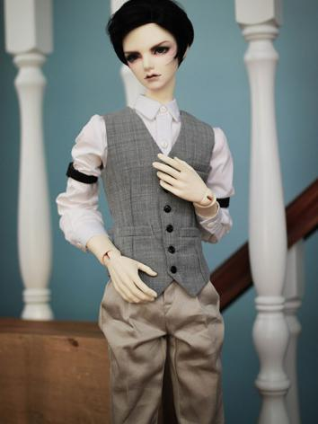BJD Clothes Boy Gray Suit f...