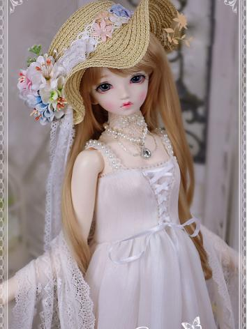 1/3 BJD Clothes Girl White Long Dress for SD Ball-jointed Doll