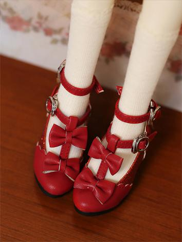 Bjd Shoes 1/3 Girl Sweet Bow Shoes for SD/MSD Ball-jointed Doll