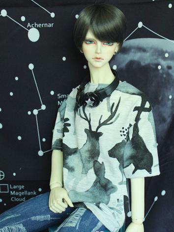 BJD Clothes Boy/Girl Printed T-shirt Top for 70cm/SD/MSD Ball-jointed Doll