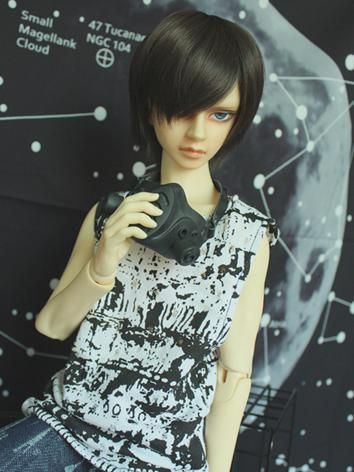 BJD Clothes Boy/Girl Printed Sleeveless T-shirt Vest Top for 70cm/SD/MSD Ball-jointed Doll