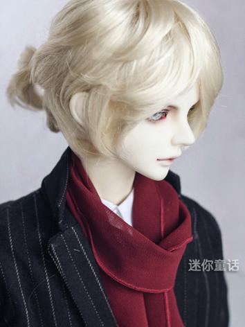 BJD Wig Boy Silver/Light gold Short Hair 1/3 1/4 1/6 Wig for SD/MSD/YSD Size Ball-jointed Doll
