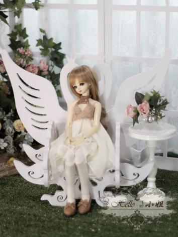 BJD DIY White Chair for MSD Ball-jointed Doll