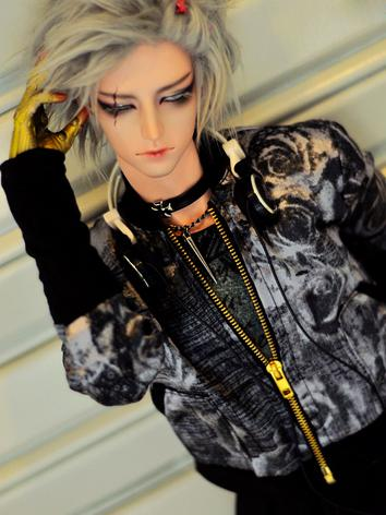 BJD Clothes Boy PUNK Printed Coat Jacket for 70cm/SD17/MSD/SD Size Ball-jointed Doll
