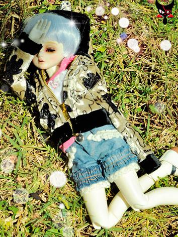 BJD Clothes Boy Gold Printe...