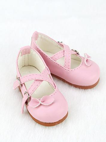 BJD Shoes Girl White/Black/Pink/Blue/Chocolate Sweet Bow Shoes C10 for MSD Size Ball-jointed Doll