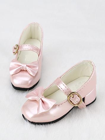 BJD Shoes Girl Black/Wine/White/Pink Sweet Shoes C03 for SD Size Ball-jointed Doll