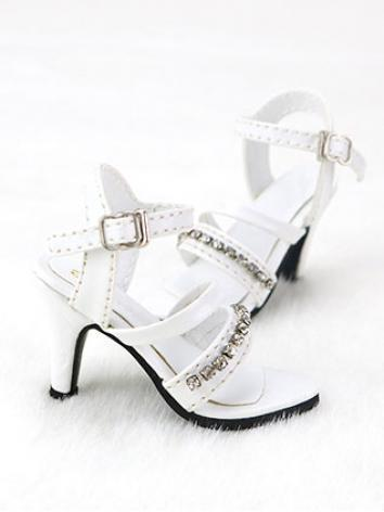 BJD Shoes Girl Black/White High heels Lady Shoes C09 for SD Size Ball-jointed Doll