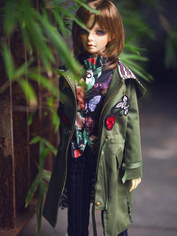 BJD Clothes Boy Green Windc...