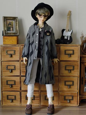 BJD Clothes Boy Long Coat Jacket for msd/SD/70cm Ball-jointed Doll BJD