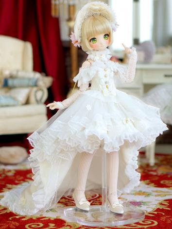 1/4 MSD Clothes Girl White/...