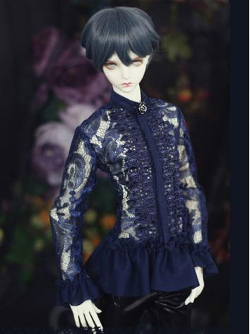 Bjd Clothes Blue Lace Shirt...