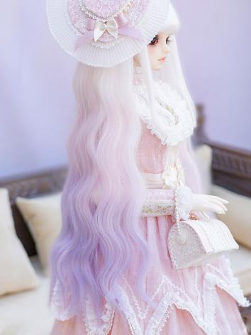 BJD Wig Girl White&Purple G...