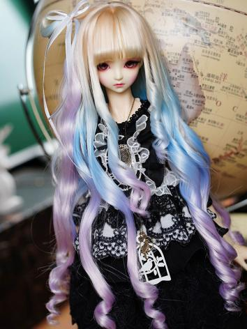 BJD Wig Girl Rainbow Color ...