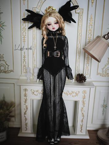 BJD Clothes Girl Black Quee...