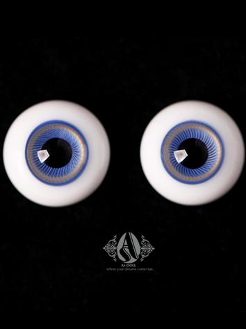 BJD Eyes 14mm Ice-Blue eyeb...