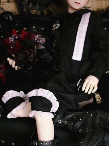 BJD Boy Clothes Black Suit +Dimension Pieces+ for MSD/SD13 Size Ball-jointed Doll