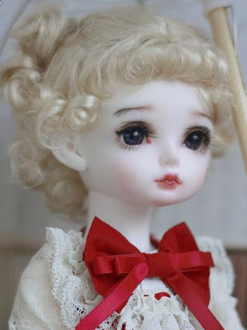 BJD Wig Girl Light Gold Curly Hair Wig 【MMD14】 for YOSD Size Ball-jointed Doll