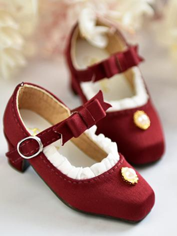 1/4 Girl Shoes Pink/Wine/Black/White/Blue/Purple Sweet Shoes for MSD Ball-jointed Doll