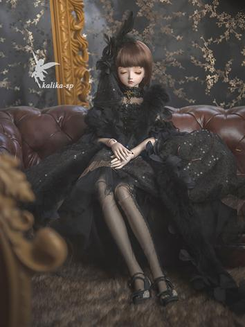 Bjd Clothes Girl Black Outf...