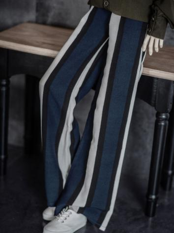 1/3 1/4 70cm Clothes Stripe Trousers A228 for MSD/SD/70cm Size Ball-jointed Doll