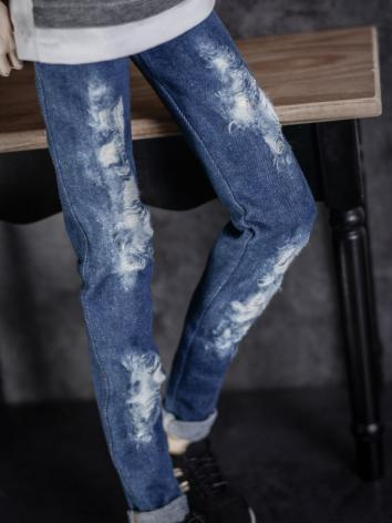 1/3 1/4 70cm Clothes Ripped Jeans Trousers A225 for MSD/SD/70cm Size Ball-jointed Doll