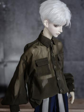 1/3 1/4 70cm Clothes White/Dark Green Shirt A226 for MSD/SD/70cm Size Ball-jointed Doll