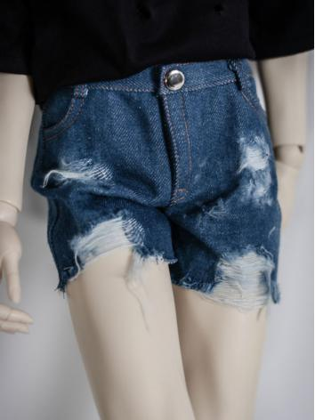1/3 1/4 70cm Clothes Blue Short Jeans Pants for MSD/SD/70cm Size Ball-jointed Doll