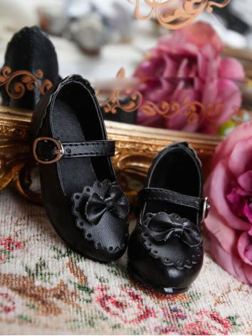 Bjd Girl Sweet Black Shoes for MSD Ball-jointed Doll