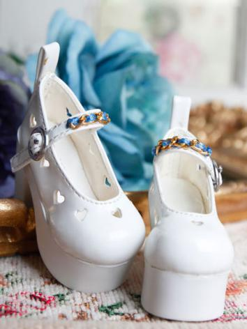 Bjd Girl Sweet White Shoes for MSD Ball-jointed Doll