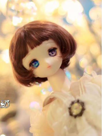 BJD Wig Girl/Boy Brown Short Hair[004] for SD Size Ball-jointed Doll