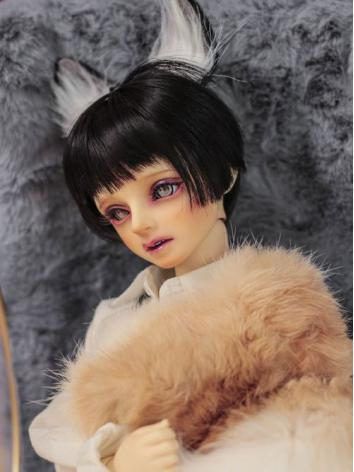 BJD Wig Girl/Boy Black Short Hair[007] for SD Size Ball-jointed Doll