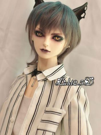 BJD Wig Girl/Boy Blue&Gray Short Hair[008] for SD Size Ball-jointed Doll