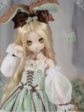 1/4 BJD Clothes Green Dress Suit for MSD Ball-jointed Doll