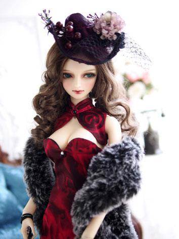 1/3 Clothes BJD Girl Red Dr...