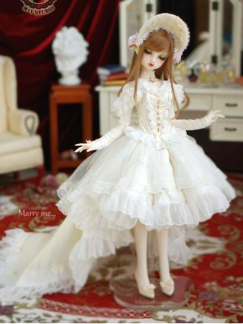 1/3 DD Clothes Girl White W...